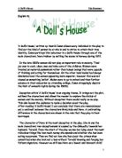 a doll s house symbols that revealed