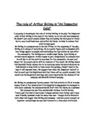 an analysis of the use of language by jb priestley and the impact of the inspector on the birling fa
