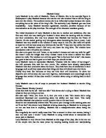 macbeth essay role of lady macbeth gcse english marked by  page 1 zoom in