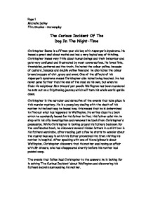 essay on curious incident Read curious incident of the dog in the night-time free essay and over 88,000 other research documents curious incident of the dog in the night-time mark haddon.