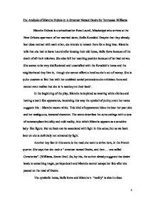 the analysis of blanche dubois in a streetcar d desire by  page 1 zoom in