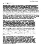 A Brief Summary of King Lear - I, II, III, IV - GCSE English ...