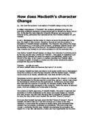 a description of how macbeth and lady macbeth changed during the course of the play