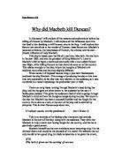 what factors lead macbeth to kill duncan essay