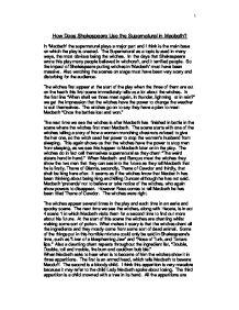 Macbeth supernatural thesis statement