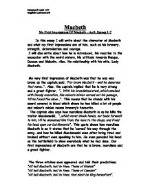 Essay Papers Examples Macbeth Character Essay Essays On Health Care also Essay In English For Students Macbeth Character Essay  Underfontanacountryinncom Argumentative Essay Thesis