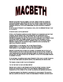 the theme of evil deeds in macbeth by william shakespeare Achievement standard macbeth essay  william shakespeare's macbeth isa tale of contrasts and  macbeth truly desires to commit evil,but despairs over the.