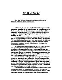 how does shakespeare create dramatic tension in act 2 scene 2 of macbeth? essay And find homework help for other macbeth questions at enotes  dramatic  tensionhow does shakespeare create dramatic tension in act 2 scene 1  in act  ii, scene 2, there is also tension created in the anxiety of lady macbeth, caused  by.