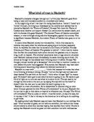 macbeth essays on character change Home » essay topics and quotations » macbeth thesis statements and important quotes macbeth lady macbeth is a character who change his behavior macbeth.