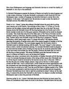 explore shakespeares dramatic presentation of macbeth in act 1 essay