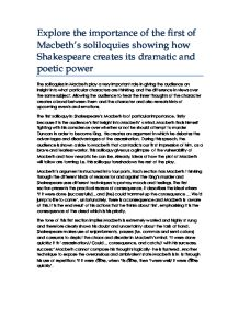 shakespeares use of soliloquies to present macbeth and hamlet essay