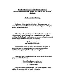 how does shakespeare use the wedding scene to surprise the audience essay Answer to write a responsive essay and a summary to the article our youth should serve by steven muller the attached document has the essay on.