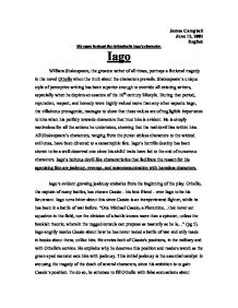 essays on othello and iago