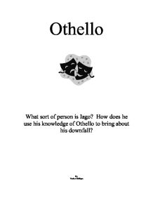 othello essay on his downfall Theme of jealousy in othello it is jealousy that prompts iago to plot othello's downfall othello voices his old fears that brabantio was right.