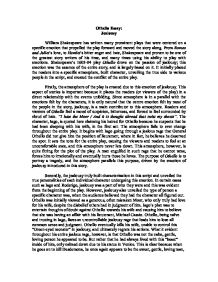 essay of othello