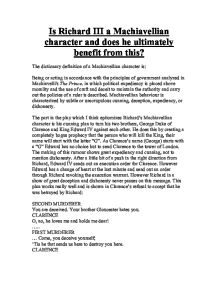 characteristics of richard iii essay