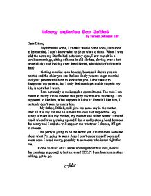 romeo and juliet diary entries