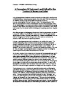 comparing the similarities and differences between william shakespeares romeo and juliet and franco  The question of desire: a comparison of love in shakespeare shakespeare, william romeo and juliet franco romeo and juliet.
