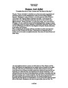 what role does fate play in romeo and juliet essay Romeo and juliet analytical essay on fate named romeo and juliet the play was very in which results to romeo's and juliet's death the role of the.