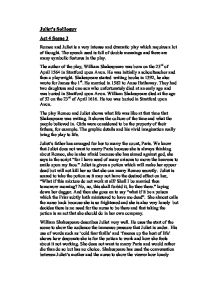 juliets speech in act 4 scene 3 essay Romeo and juliet by shakespeare - analysis of juliet's soliloquy act 4  act 3 scene 2 summary act 3, scenes 2–4 summary:  essay on act 3 scene 5 romeo and.