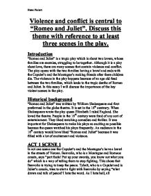 romeo and juliet essay about love and conflict