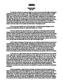 Paper Essay Writing  Example Of Essay With Thesis Statement also Political Science Essay Topics Romeo  Juliet Analysis Of Act     Gcse English  Marked  Essay For English Language