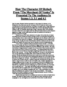 the charaterization of shylock essay Everything you ever wanted to know about the characters in the merchant of venice, written by experts just for you.