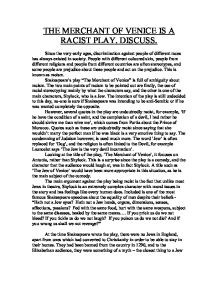 the merchant of venice is a racist play discuss gcse english   the merchant of venice page 1 zoom in
