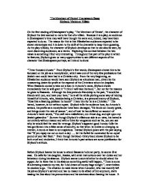 the merchant of venice coursework essay shylock victim or  page 1 zoom in