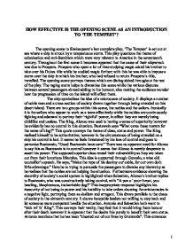 The tempest context essay