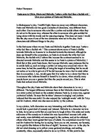 twelfth night fool essay A list of all the characters in twelfth night the twelfth night characters covered include: viola, orsino, olivia, sebastian, malvolio, feste, sir toby, maria, sir.