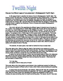 discuss the different types of love presented in shakespeare s   william shakespeare · twelfth night page 1 zoom in
