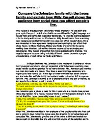 blood brothers social class essay