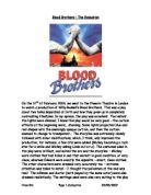 blood brothers theatre evaluation drama gcse Drama drama at north bromsgrove high school aims to develop the social  such as blood brothers in preparation  and prepare for a live theatre evaluation, .