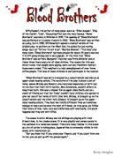 blood brothers gcse essays