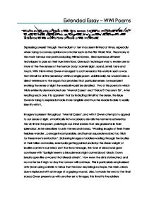 war poems evocation of the five senses gcse english marked  page 1 zoom in