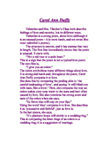 Carol Ann Duffy - GCSE English - Marked by Teachers.com