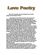 how can the n identity be seen through poetry what love poetry