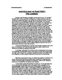 analytical essay on roald dahl s the landlady gcse english  page 1 zoom in