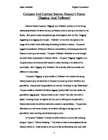 compare and contrast seamus heaney s poems digging and follower page 1 zoom in