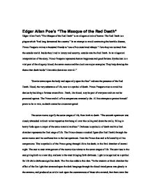 masque red death essays