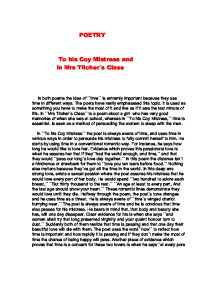 living for the now in to his coy mistress by andrew marvell and the flea by john donne