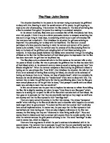Explication of John Donne's The Flea