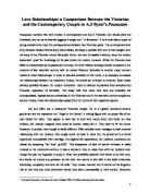 commentary and comparison on sonnet and gcse english love relationships a comparison between the victorian and the contemporary couple in a s byatt s