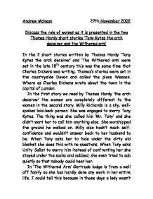 the humor in thomas hardys short story tony kytes the arch deceiver