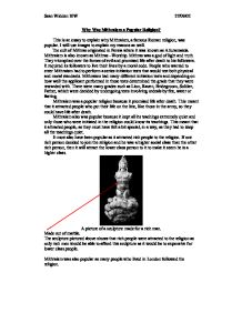 why was mithraism a popular religion essay Both christianity and islam are very wide spread religions in the world which have a great impact on the religion essay writing service essays more religion.