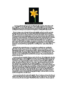 daffodils by william wordsworth gcse english marked by  page 1 zoom in