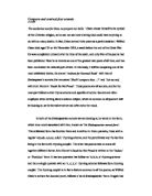Compare and contrast poem essay