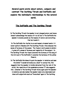 essay on the darkling thrush Category: essays research papers title: analysis of thomas hardys the darkling thrush.