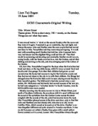 gcse english coursework/descriptive writing An extensive collection of teaching resources for gcse english language, including reading and writing fiction and non-fiction with free pdfs to download.